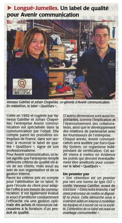 Article presse CO Octobre 2015