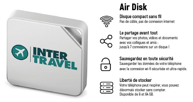 Air Disk mini disque dur compact sans fil pour votre téléphone
