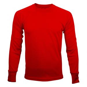 tshirt rouge manche longue homme