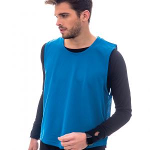Sportif chasuble unisexe bleu