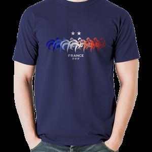 tshirt supporter fff coq bleu