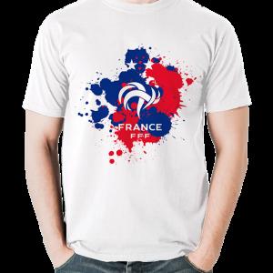 tshirt supporter fff coq blanc