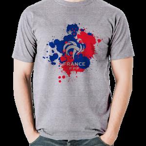 tshirt supporter fff coq gris